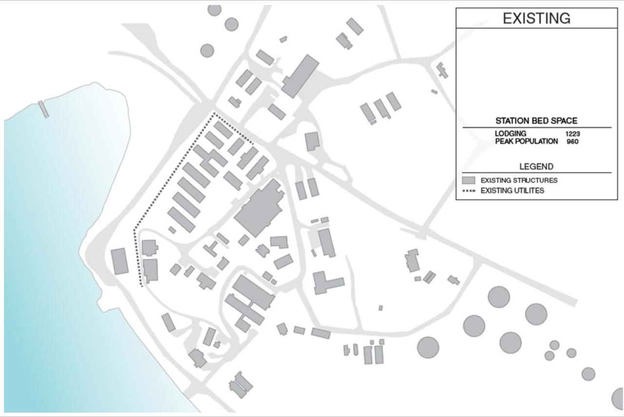 Existing building layout at McMurdo Station