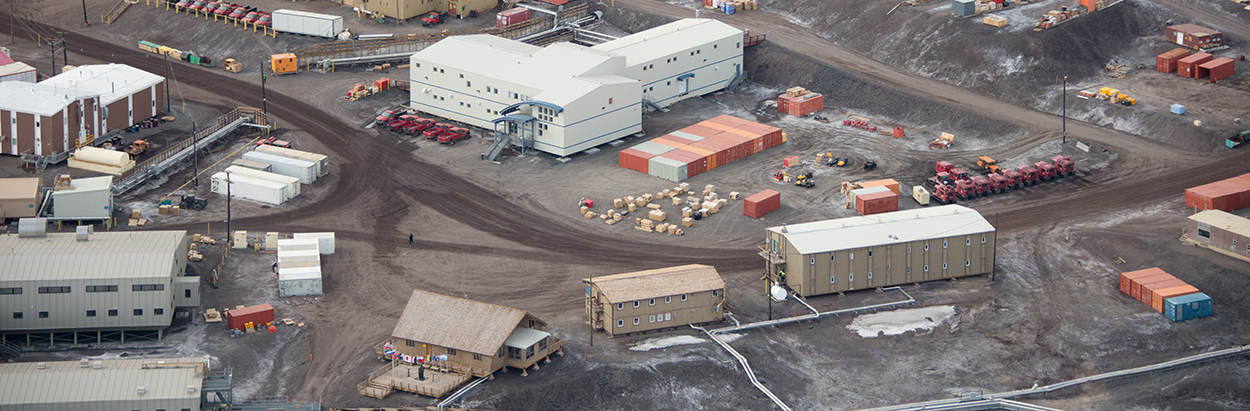 Aerial view of McMurdo