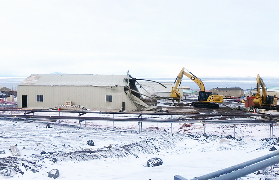 Demolition of McMurdo Structures Makes Way For AIMS Construction